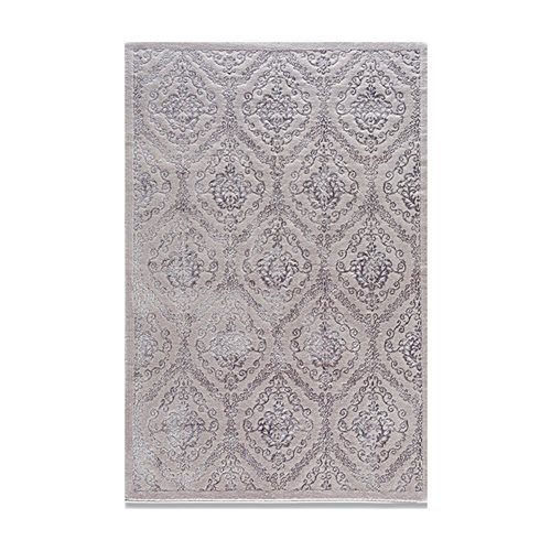 Je Veux Home Cotto Lux Damask Gri Halı 120x120